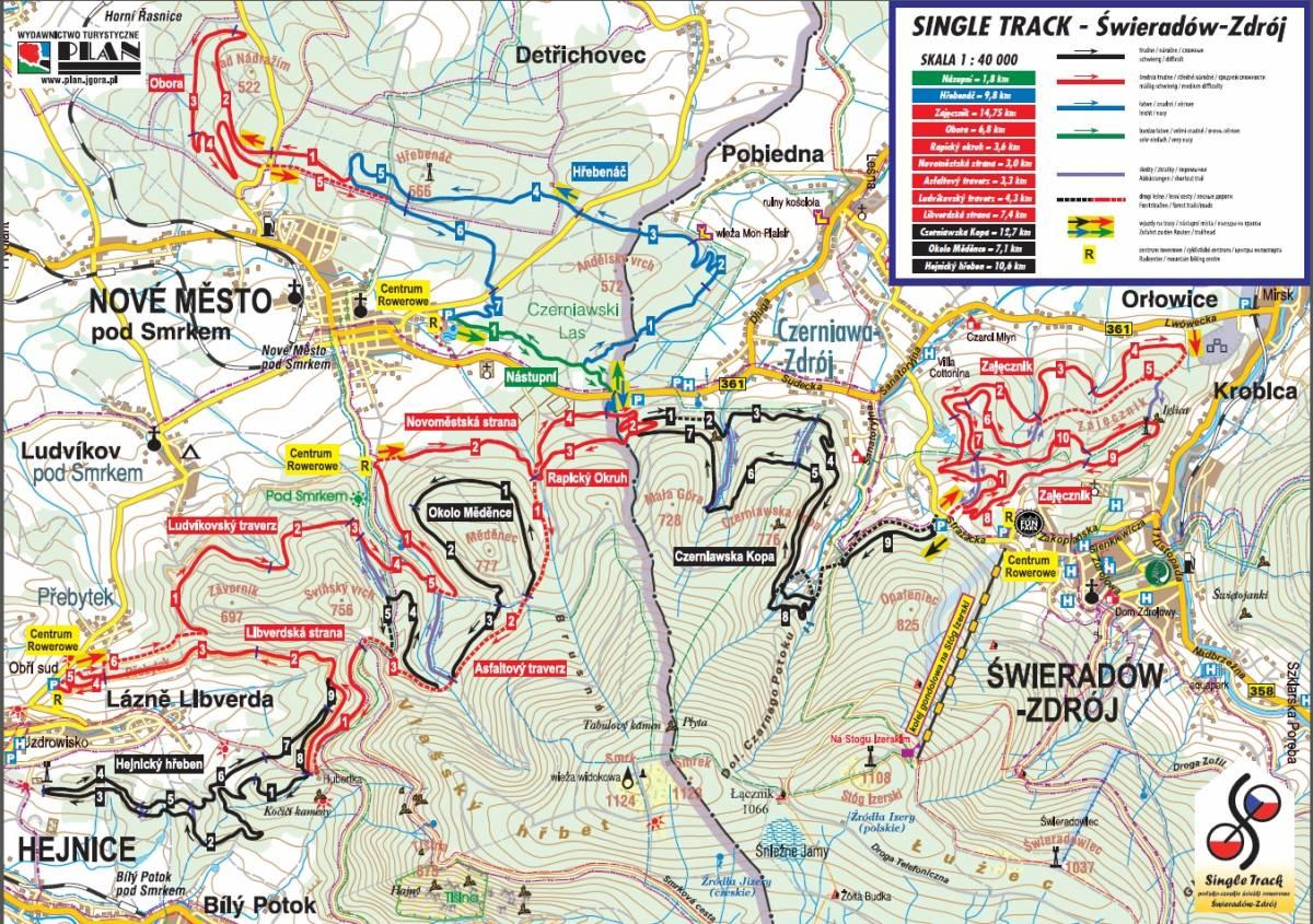 świeradów zdrój mapa Single Track   mapa 2014   Świeradów Zdrój