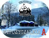 Sport Equipment Rental Shop Pod gondolą Ski-Bike